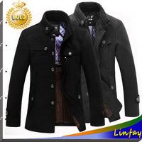 2014 NEW Mens Winter Jackets For Men Trench Coat Wool Thicken Mens Jacket Casual Jackets Men Overcoat Plus Size M L XL XXL XXXL