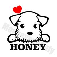 Car decals motorcycle sticker JDM DUB cute dog honey car reflective stickers