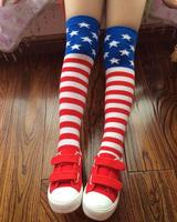 10pairs/lot Striped children knee high socks autumn winter thigh high stockings student dancing socks free shipping