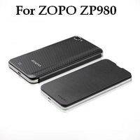 New Arrival Original Flip Leather Case For ZOPO ZP980 White/Black Protective Case Battery Cover For Zopo zp980 Free Shipping