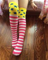 20pairs/lot Autumn girl's knee high socks thigh high dance socks kid long stockings leg warmer free shipping