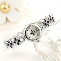 Free Shipping Women Lady's Popular Fashion Design Flower Diamond Bracelet Watch Time Quartz