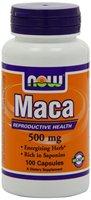 NOW Foods Maca 500mg, 100 Capsules