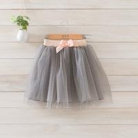 2014 New autumn,girls long skirts,children princess skirts,bow,4 colors,5 pcs / lot,wholesale kids clothing,1763