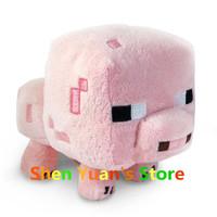 2014 New Minecraft pink pig plush doll JJ Dolls Minecraft Creeper Plush Toys Stuffed Toys of My World Baby Kids GIFT