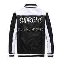 2014 best version supreme streetwear brand men's jacket Outerwear hoodies Baseball cotton clothes coat