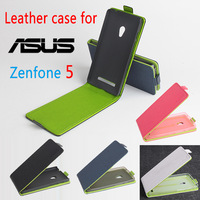 Free Shipping High Quality Green Bottom Original LeatherCase Flip Cover for ASUS Zenfone5 Case Phone Cover free gift card reader