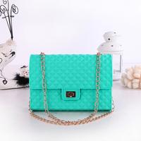 Silica Gel Bags --Shoulder Bag --Jelly Bag -Candy Color Chain  Messenger Bag for Women