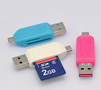 Micro USB OTG TF/SD Card Reader for Cellphone, Tablet PC, Media Player