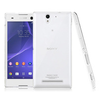 for Sony Xperia C3 phone Case,Original iMAK Super Thin Transparent Clear Crystal Shell Case for Sony C3 S55U+Screen Protector