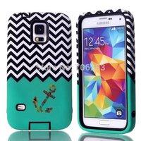 Bastex Heavy Duty Hybrid Case for Samsung Galaxy S5 G900 I9600 with anchor design + Freeshipping