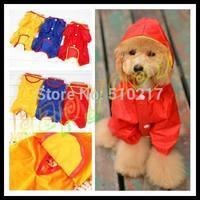1pcs fashion cut Pet raincoat dog raincoats random color Dog clothes poncho Big Medium Small dog NO.10 size