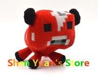 2014 New Minecraft Red Bull Plush Doll JJ Dolls Minecraft Creeper Plush Toys Stuffed Toys  My World Baby Kids Gift Brinquedos