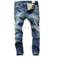 HOT SALE Free Shipping retail(1piece) fashion 2014 high quality Nostalgic retro beggar hole cotton DI brand men's jeans #8776