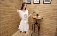 Hot new Women summer dress 2014 plus size printed short sleeve slim bandage 934#