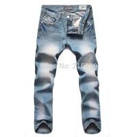New 2014 Mens DELSELES jeans brand ,ripped jeans for men,high quality Nostalgic retro men hole cotton DI Jeans Beckham,men jean