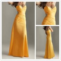 Free Shipping ! Cheap Price ! 2014 New Arrival Sweetheart Beading Long Dress Taffeta Evening Dresses OE1009