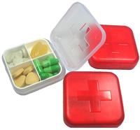 Portable 4 Cells Empty Storage Pill Box Case for Pills Medicine