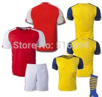 14-15 season polyester top thai fans version 1pcs football jersey+short+socks,free shipping,Customed name and number,1 kits