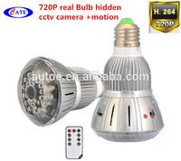 Real Bulb +720P hidde MINI camera + motion detection+ av out + looping record+ night version + long recording time AVP015BT8