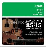 super light guitar string 10 set/lot Free shipping brand  Acoustic Guitar Strings EZ890(009-045),support dropship