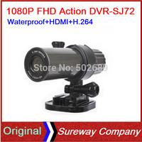 5.0MP FULL HD 1080P Sport Camera Action Waterproof 20 Meters Video Recorder Helmet Bike DV DVR SJ72 Free Shipping