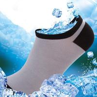 Hot Sale !!! 1 Lot / 8 Pairs Factory Whosale Brand High Quality Bamboo Fiber Men's Socks Invisible Socks Boat Socks