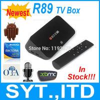 In Stock Newest RK3288 Android 4.4 TV Box R89 2GB 8GB Quad Core Smart TV Box Mali-T764 GPU Built-in MIC BT 4.0 XBMC Media Player