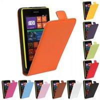 For NOkia 520 Genuine Leather ,  Real Genuine Leather Flip Case For NOkia Lumia N520 ,Free ship