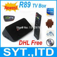 In Stock Newest RK3288 Android TV Box R89 Quad Core Smart TV Box Mali-T764 GPU 2GB 8GB Built-in MIC BT 4.0 XBMC Media Player