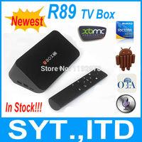 In Stock Newest R89 Android TV Box RK3288 Quad Core Smart TV Box 2GB 16GB Mali-T764 GPU Built-in MIC BT 4.0 XBMC TV Receiver
