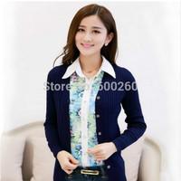 2014 Hitz retro twist solid thin cardigan sweater knit cardigan 4 color S/M/L/XL/XXL/XXXL