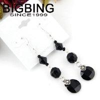 BigBing Fashion jewelry Fashion Vintage Bohemia black crystal dangle earrings Wholesale Fashion jewelry Latest design B486