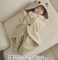 Animal Style Cent leg Baby Sleeping Bag Baby Blankets newborn coral fleece swaddle envelopes