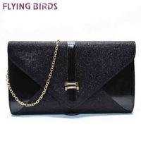 FLYING BIRDS 2014! free shipping  women clutch pu leather women shoulder messenger bags Envelope evening bag on sale LS3748c
