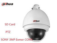 Free Shipping Dahua 1/3 CMOS PTZ HD 3MP network cameras SD card IR speed dome for indoor and outdoor security cameras