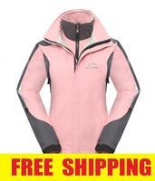 2014 New SIPANDE Women 2in1 Outdoor Winter Waterproof Windproof Hiking Camping Skiing Fleece Jacket Outerwear Sportswear M-XXL