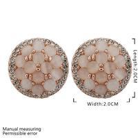 Top Quality18k gold gold plated austrian crystal rhinestone Opal stone stud earrings fashion jewelry 18KRGPE895
