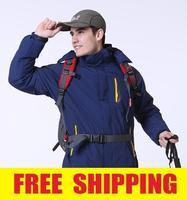 Men Outdoor Windproof  Waterproof Fleece ski Jacket coat  Camping Hiking Outerwear clothes Hoodies Sportwear parka for men