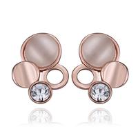 Top Quality 18k gold plated austrian crystal rhinestone Opal Stone earrings fashion jewelry  18KRGPE890