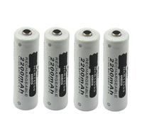 4PCS NCR 14500 AA Li-ion 3.7V 2200mAh Rechargeable Battery