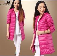 Light Weight Duck Down Coat Winter Jacket Women Casual Parka Plus Size Big Size XXXL 4XL 5XL 6XL Long Jaqueta Feminina AW14J009