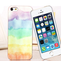 For iphone   5s colored drawing scrub phone case for  iphone   5 phone case for apple   5 outerwear