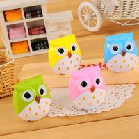 5pcs/lot Mini Cute Animal Colorful Owl Pencil Sharpener Stationery School Stuff Office Funny Supplies Desktop Gadgets
