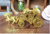 2014  free shipping new fashion packing plastic  ferrero rocher chocolate favor box  wedding carriage