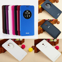 Free shipping UltraSlim Quick Circle Clear Window Flip Case Cover For ASUS ZenFone 6