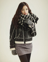 New Arrival  2014 Mohair knitting wool thick plaid scarves hitting scen