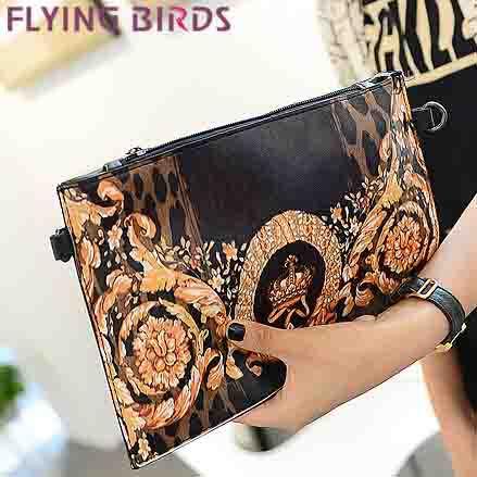 FLYING BIRDS! free shipping women clutch pu leather cute animal Women shoulder messenger bags Envelope evening bag LS3751c(China (Mainland))