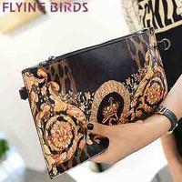 FLYING BIRDS! free shipping  women clutch pu leather cute animal Women shoulder messenger bags Envelope evening bag LS3751c