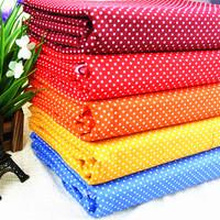 "5Colors Assorted ""Mini Dots"" Cotton Fabric Fat Quarters Patchwork Tilda cloth scrapbooking Fabric 50cm*158cm"